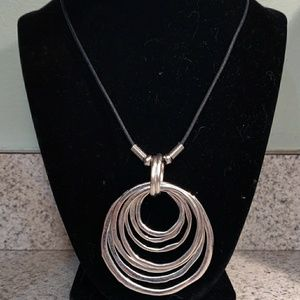 Jewelry - NEW ZINC ALLOY PENDANT WITH BLACK ROPE NECKLACE